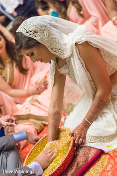 Indian bride during wedding ceremony