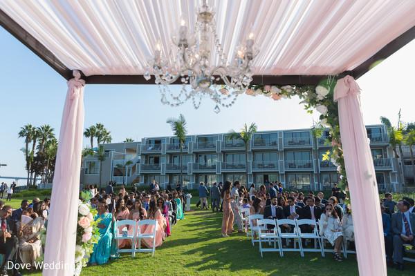 Indian wedding ceremony guests capture