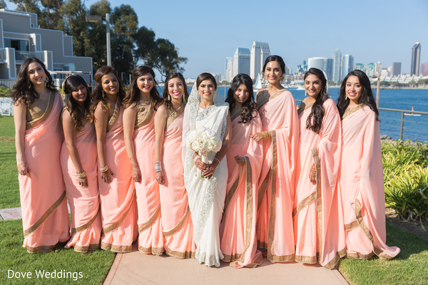 Amazing Indian bride and bridesmaids photo idea.