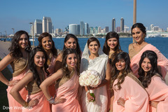 Fabulous indian bride with bridesmaids portrait