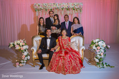 Enchanting indian couple with family capture