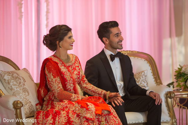 Ravishing indian couple at their reception