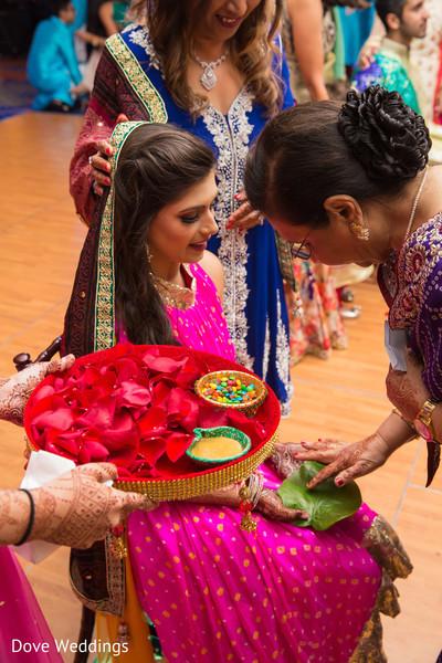 Indian bride's pre-wedding ritual