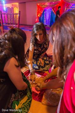 Indian wedding guests capture