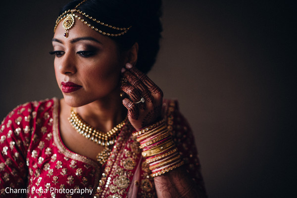 Glowing indian bride capture