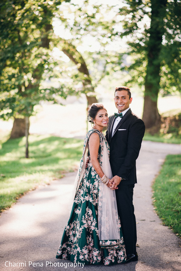 Indian lovebirds' indian wedding reception style