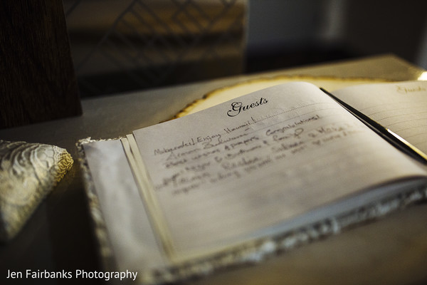 Indian wedding reception guest book