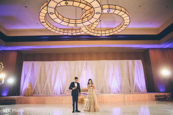 indian wedding reception,indian bride and groom speech