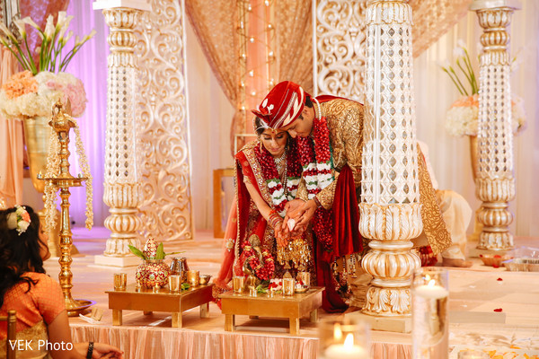 saptapadi ritual,indian bride and groom,indian wedding ritual