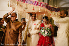 Fabulous indian bride's grand entrance