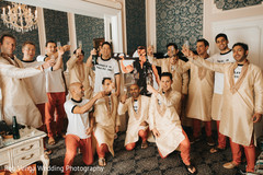 Indian groom with groomsmen fun moment
