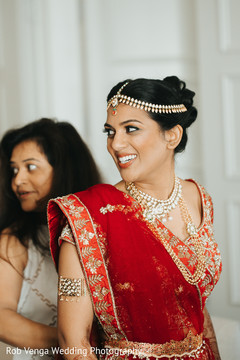 See this indian bride getting ready
