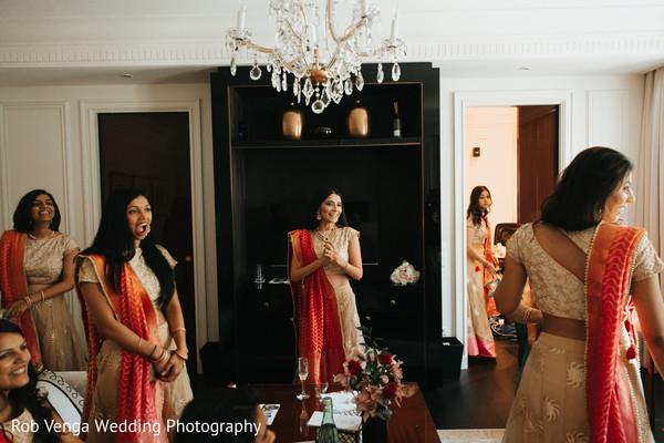 Indian bridesmaids capture