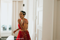 Beautiful indian bride laughing capture