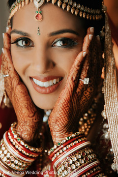 Gorgeous indian bride's portrait