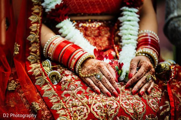 Stunning red bridal lengha