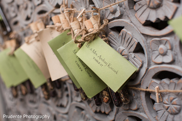 Seating cards idea in Bolton, MA Fusion Indian Wedding by Prudente Photography