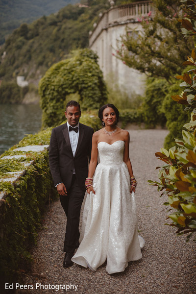 Dreamy indian newlyweds photo shoot in Lake Como, Italy Indian Wedding by Ed Peers Photography