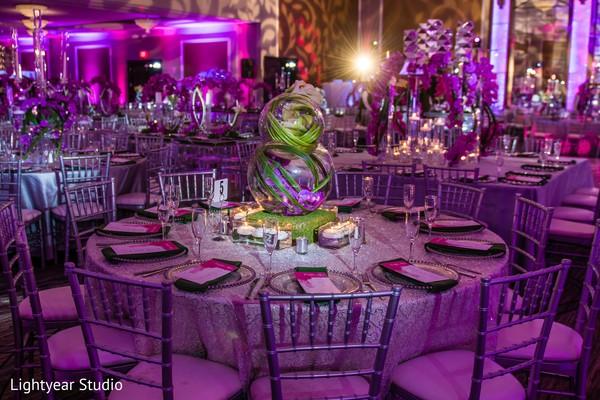Stunning indian wedding reception set up