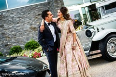 Indian newlyweds having fun