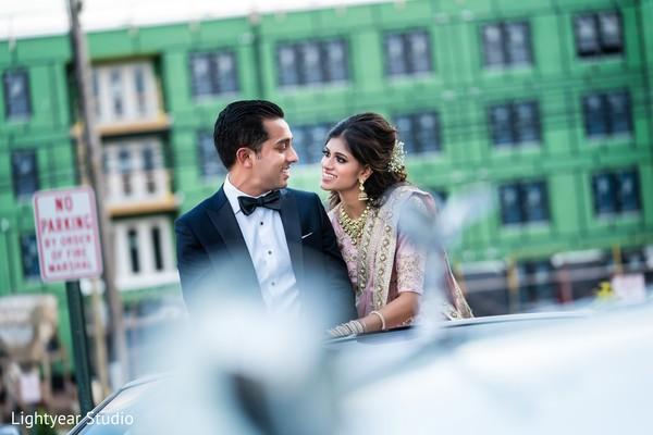 Romantic indian wedding portrait