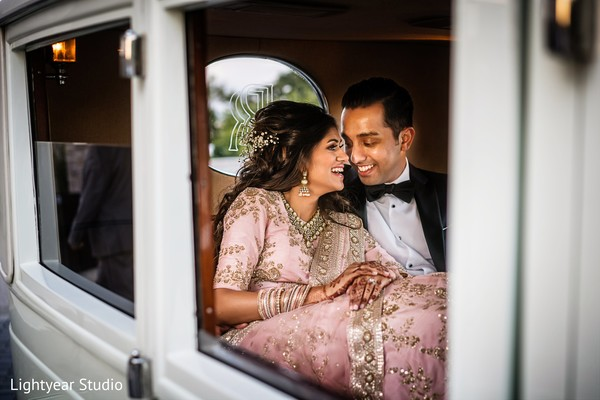 Indian bride and groom reception fashion inspiration
