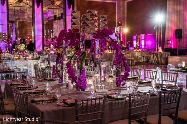 Indian wedding pink themed decor