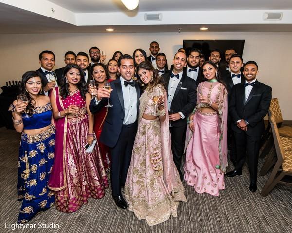 Indian wedding reception portrait