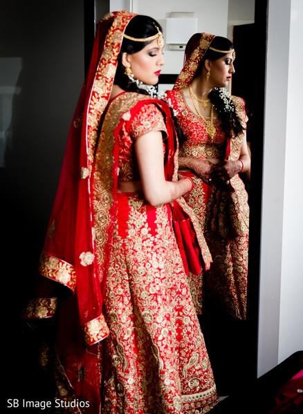 Bridal fashion inspiration in Montgomery, Texas Indian Wedding by SB Image Studios