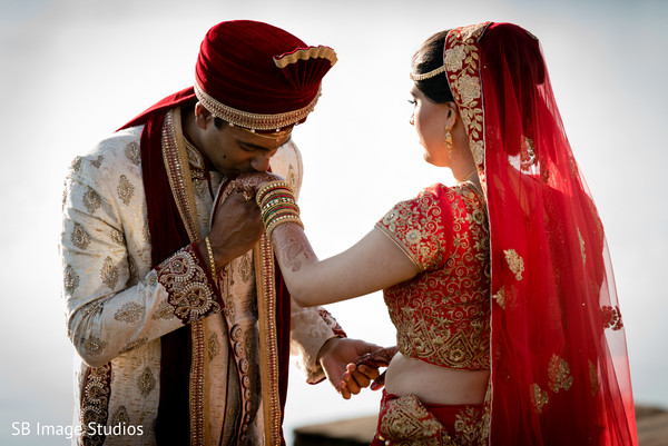 Indian bride and groom tender moment in Montgomery, Texas Indian Wedding by SB Image Studios
