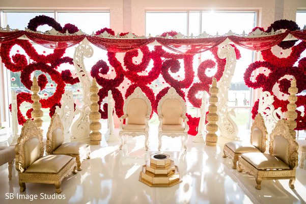Fascinating indian wedding stage in Montgomery, Texas Indian Wedding by SB Image Studios