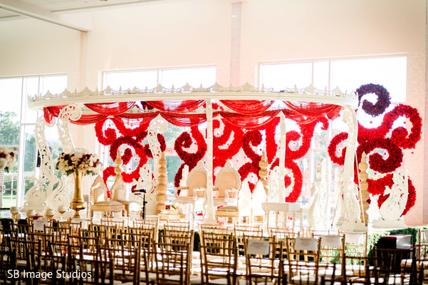 Heavenly Indian wedding mandap in Montgomery, Texas Indian Wedding by SB Image Studios