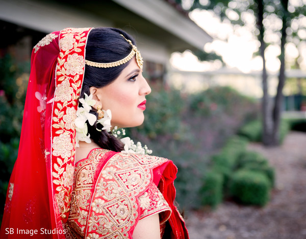 Ravishing indian bride posing