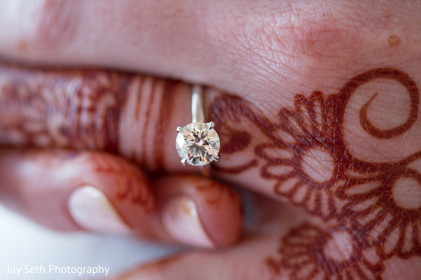 Gorgeous indian bride engagement ring
