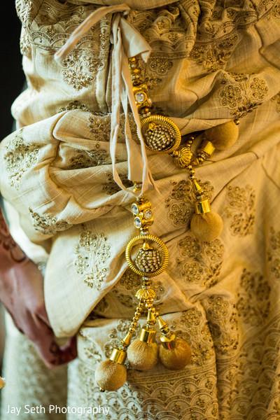 Golden embroidered lengha