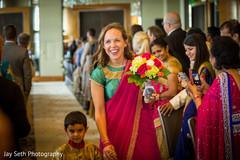 Colorful indian bridesmaids sari