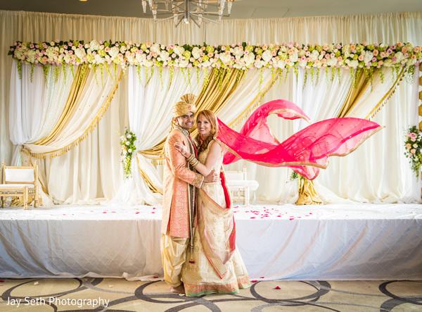 indian wedding,wedding stage,indian couple