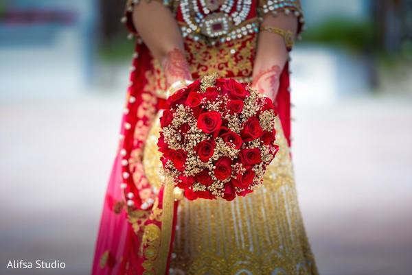 Beautiful indian bride flower bouquet
