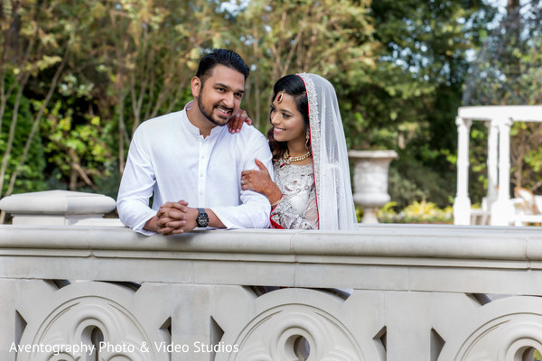 Lovely indian bride and groom outdoor capture.