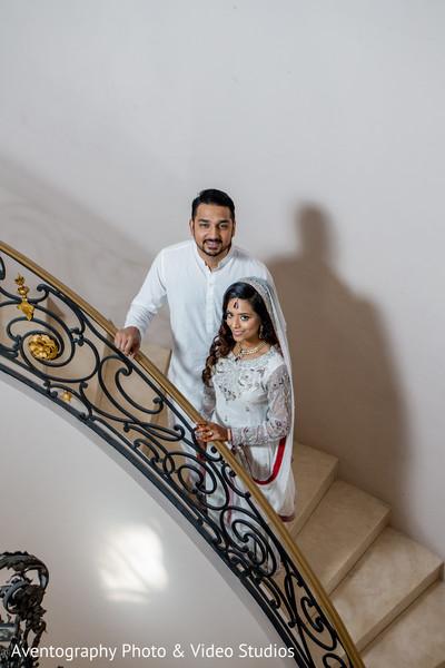 Happy Indian couple portrait.