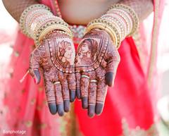 Stunning Indian bride mehndi art.