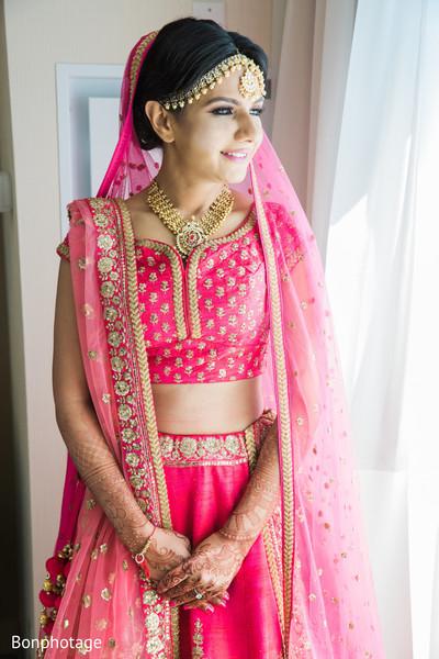 Magnificent Indian bride's portrait.