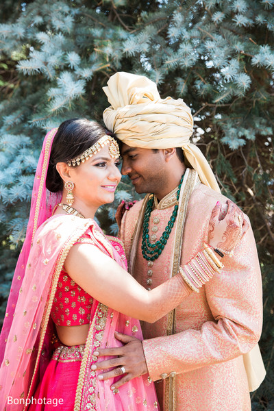 Indian lovebirds portrait