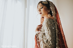 Delightful indian bride's wedding outfit