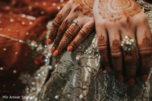 Indian bridal mehndi art