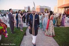 Indian groom during his baraat celebration
