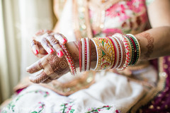 Dazzling indian bridal bangles.