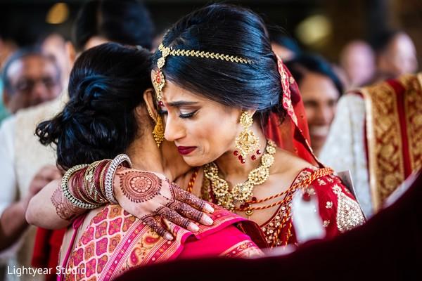 Indian bride's vidaai scene