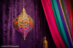 Charming Indian sangeet lamp decoration.