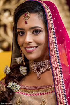 Stunning Indian bride portrait.